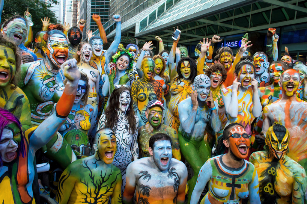 Pictures and Photography from NYC BodyPainting Day 2014