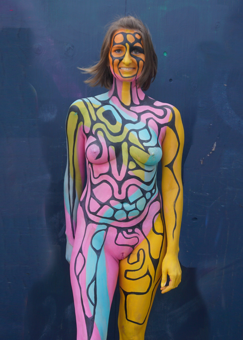 Body Canvas Painting